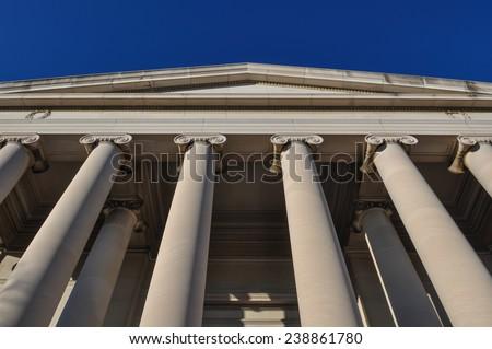 Pillars or Columns Blue Sky - stock photo