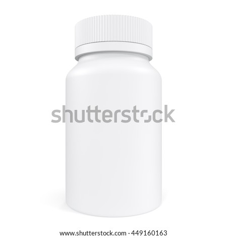 Pillbox unlabeled for medicine isolated on white background. 3d illustration