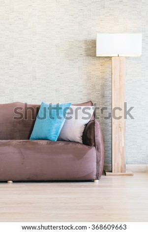 Pillow and Sofa decoration in luxury livingroom interior - Filter effect