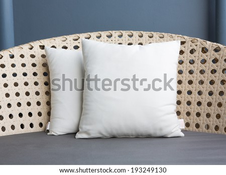 pillow decorated - stock photo