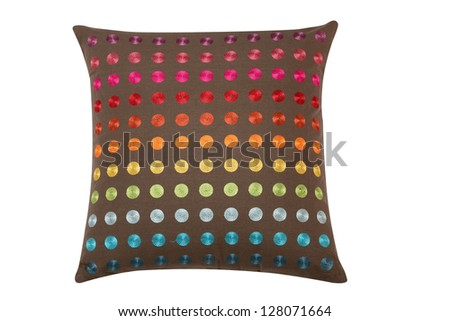 Pillow. Isolated - stock photo