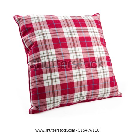 pillow isolated on white with clipping path - stock photo
