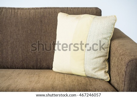 Pillow on sofa decoration in living room interior