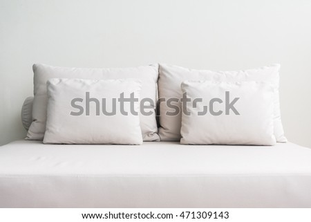 Pillow on sofa decoration with outdoor patio and terrace