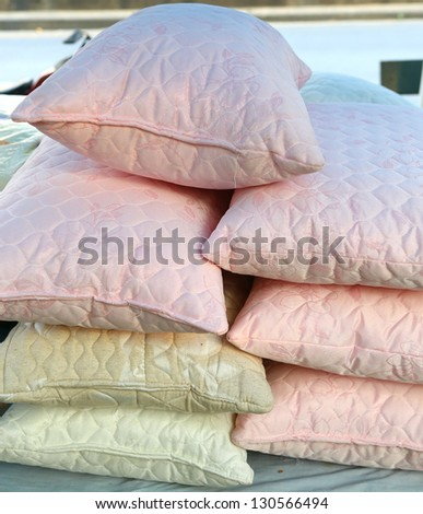 pillows for sale - stock photo