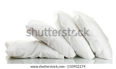 pillows isolated on white - stock photo