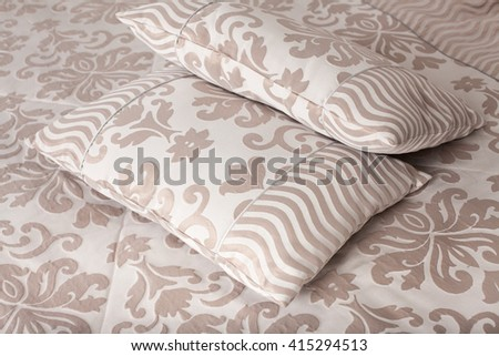 pillows on a bed Comfortable soft pillows on the bed