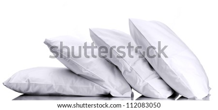 pillows, on grey background - stock photo