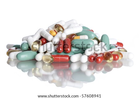 Pills and Capsules - stock photo