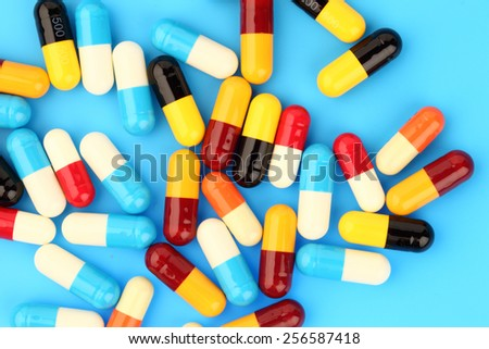 pills and capsules medical background