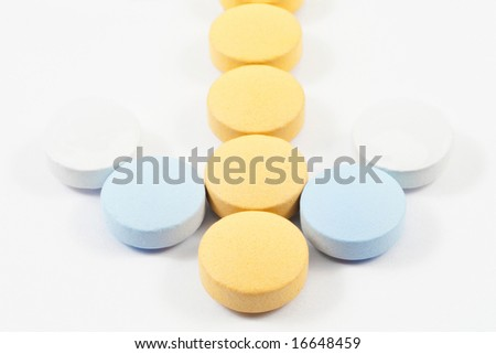 pills and drugs - stock photo