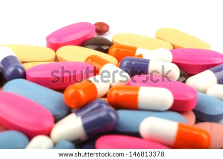 Pills and tablets. - stock photo