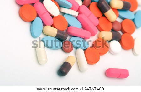 pills as a background - stock photo