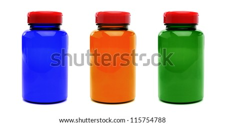 Pills Bottles - stock photo