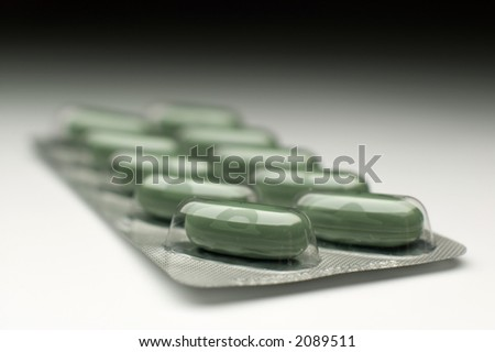 pills close-up