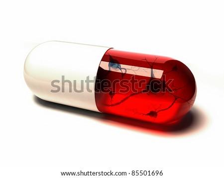 pills - 3d illustration - stock photo