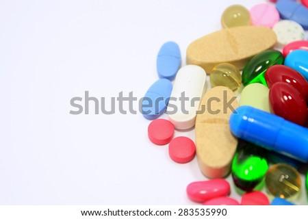 pills drugs - stock photo