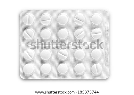 Pills in blister pack closeup