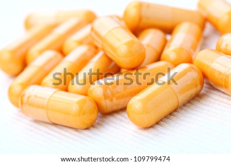 Pills in close up - stock photo