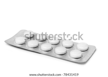 pills isolated on the white background - stock photo