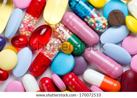 pills isolated on white background