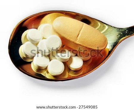 Pills on a teaspoon