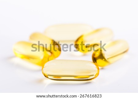 Pills on a white background.