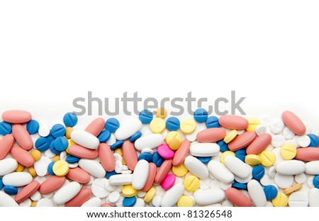 pills over white