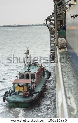 Pilot boat africa - stock photo