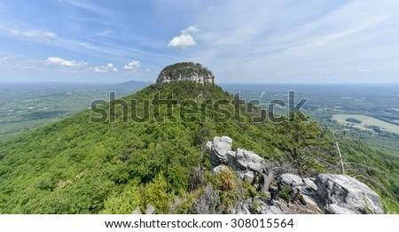 Pilot mountain state park in north carolina - stock photo