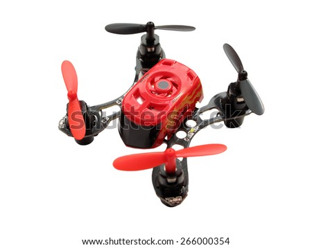 PILSEN, CZECH REPUBLIC - MARCH 28, 2015: Ultra Small Quadcopter Faze with auto flip by Horizon Hobby. One of the smallest quadcopter in the world. - stock photo