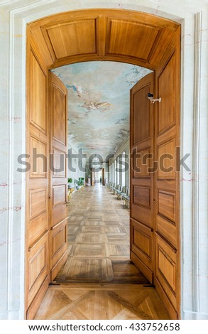 Pilsrundale, Latvia - May 25 , 2016.; Interior of Rundale palace. Rundale palace is one of the most outstanding monuments of Baroque and Rococo art in Latvia.