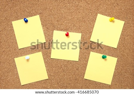Pin paper on cork board texture - stock photo