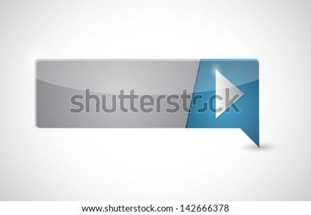 pin pointer arrow illustration button design over white - stock photo
