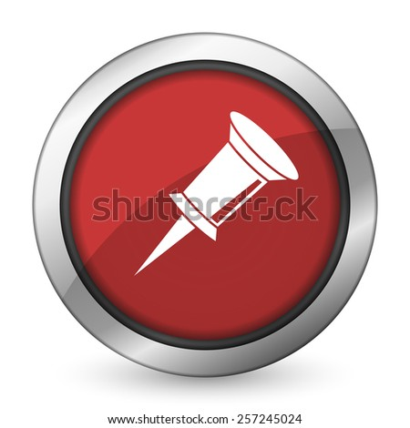 pin red icon   - stock photo
