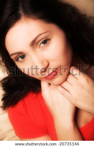 Pin-up girl - stock photo
