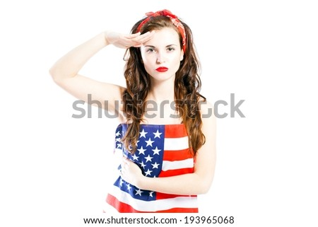 photos of girls jumping wrapped in american flag № 13434