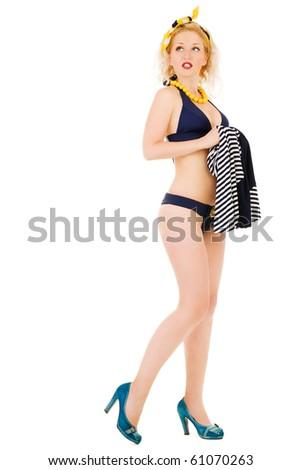 Pin-Up Sailor - stock photo