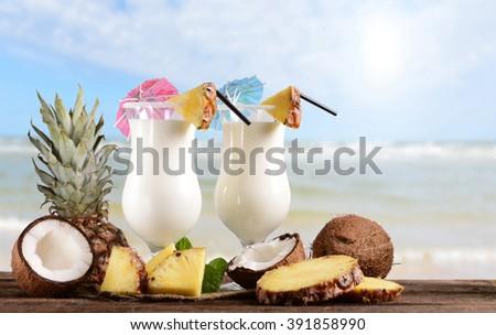Pinacolada drink - stock photo