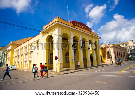 PINAR DEL RIO, CUBA - SEPTEMBER 10, 2015: Downtown of the city, it is famous his Neoclassical buildings.