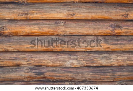Pine logs. Texture of wooden planks - stock photo