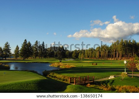 Pine Mountain Gold Course - stock photo