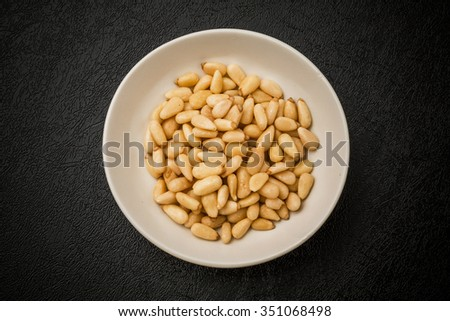Pine nut Chinese medicine - stock photo