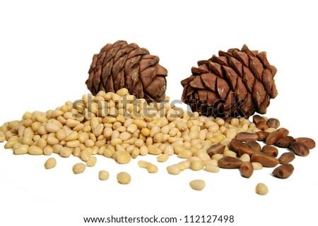 pine Nuts - stock photo