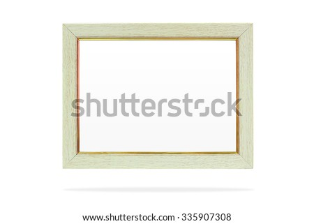 Pine wood frame. Photo frame. Picture frame. Empty picture frame. Blank picture frame. Wooden border frame. Modern design frame. Vintage picture frame. Wood frame isolated. Clipping path frame. Wooden - stock photo