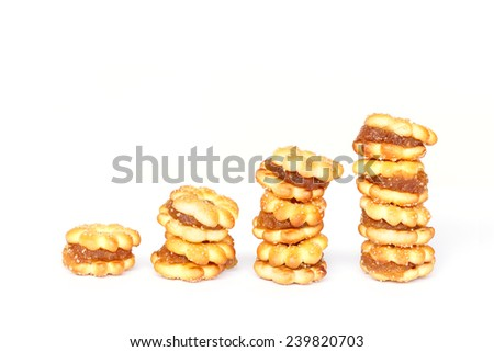 Pineapple Cookies isolated on white background