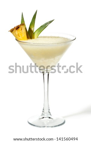 Pineapple Frozen Cocktail - stock photo