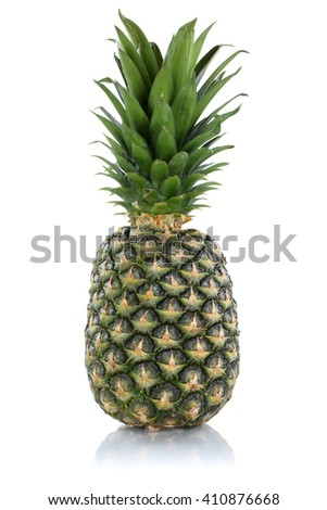 Pineapple fruit isolated on a white background - stock photo