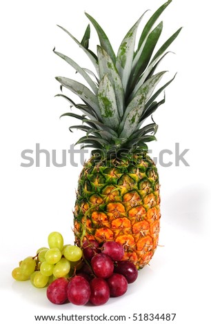 pineapple & grapes