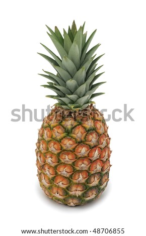 Pineapple, isolated on a white background